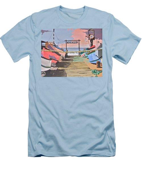 Dory Fishing Fleet -newport Beach Men's T-Shirt (Athletic Fit)