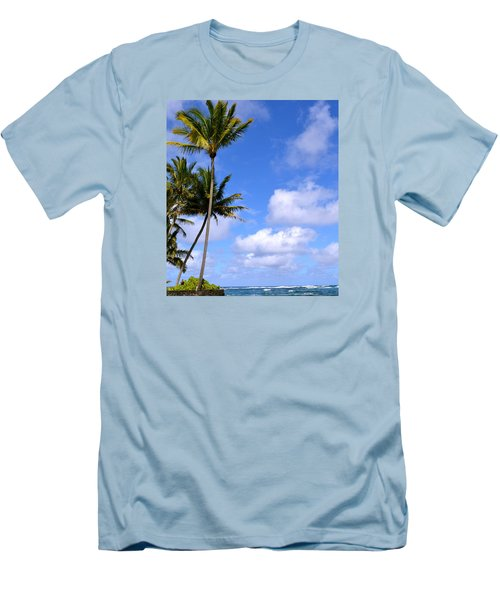 Men's T-Shirt (Slim Fit) featuring the photograph Down By The Ocean In Hawaii by Lehua Pekelo-Stearns