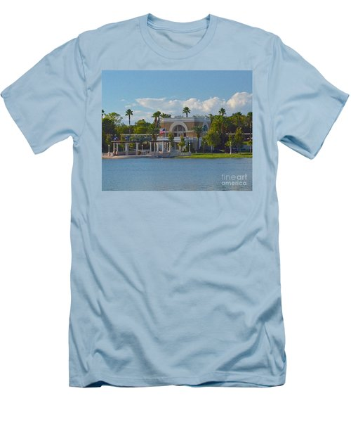 Down By The Station Men's T-Shirt (Slim Fit) by Carol  Bradley
