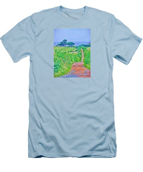 Down To The Sea Herm Island Men's T-Shirt (Athletic Fit)