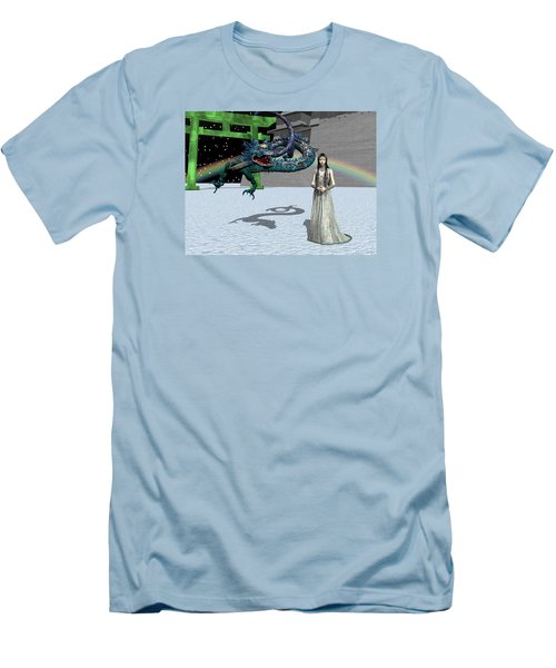 Dragon New Year Men's T-Shirt (Slim Fit) by Michele Wilson