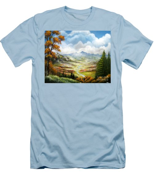 Men's T-Shirt (Slim Fit) featuring the painting Dreamin On by Patrice Torrillo