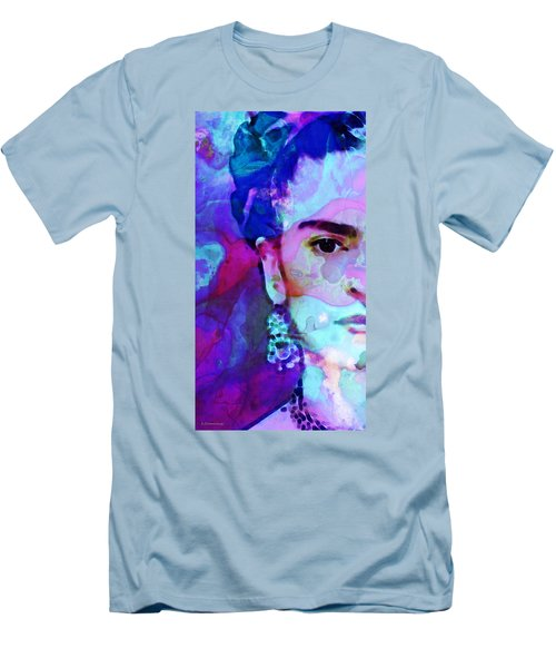 Men's T-Shirt (Athletic Fit) featuring the painting Dreaming Of Frida - Art By Sharon Cummings by Sharon Cummings