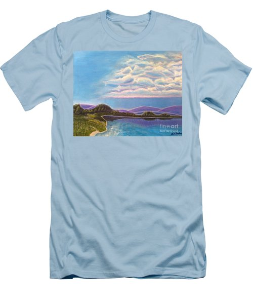 Men's T-Shirt (Slim Fit) featuring the painting Dreamscapes by Kimberlee Baxter
