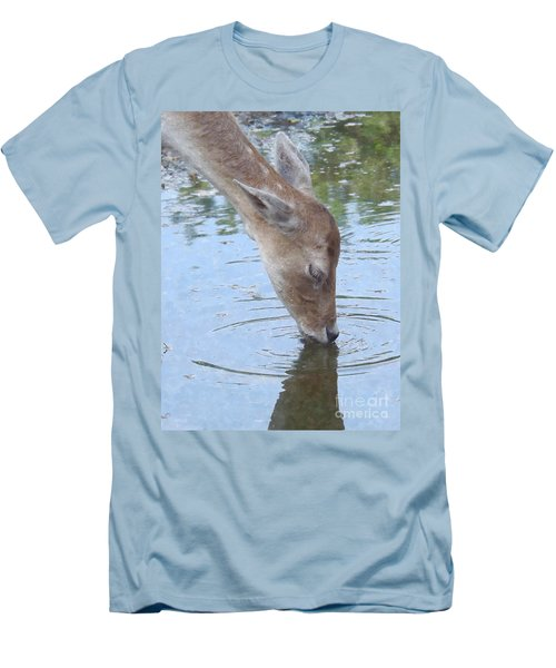 Drinking Doe Men's T-Shirt (Athletic Fit)