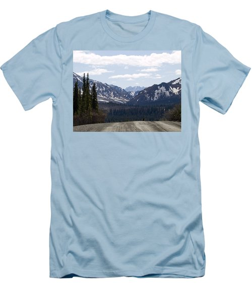 Drop Off Men's T-Shirt (Slim Fit) by Tara Lynn