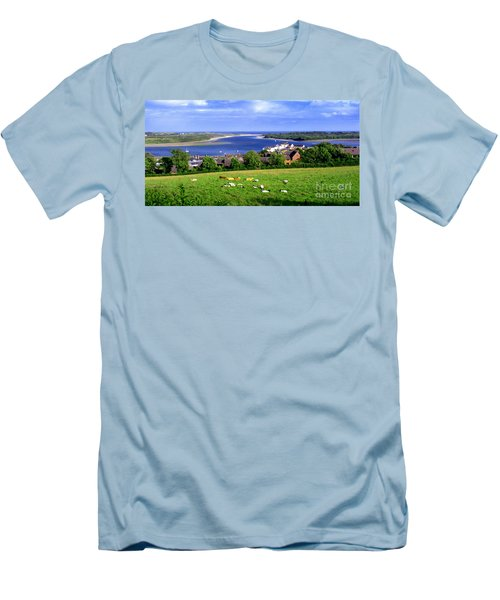 Dundrum Bay In County Down Ireland Men's T-Shirt (Slim Fit) by Nina Ficur Feenan