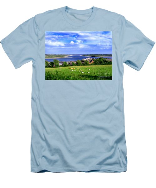 Men's T-Shirt (Slim Fit) featuring the photograph Dundrum Bay Irish Coastal Scene by Nina Ficur Feenan