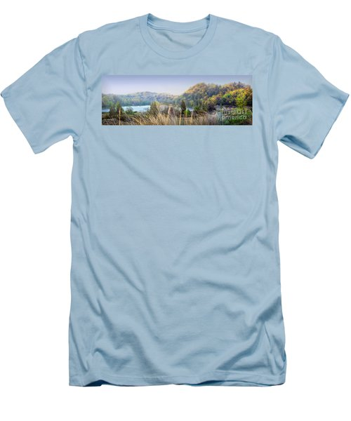 Dune Lake Panorama Saugatuck Mi Men's T-Shirt (Athletic Fit)