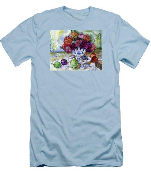 Dutch Dahlia Delights Men's T-Shirt (Athletic Fit)
