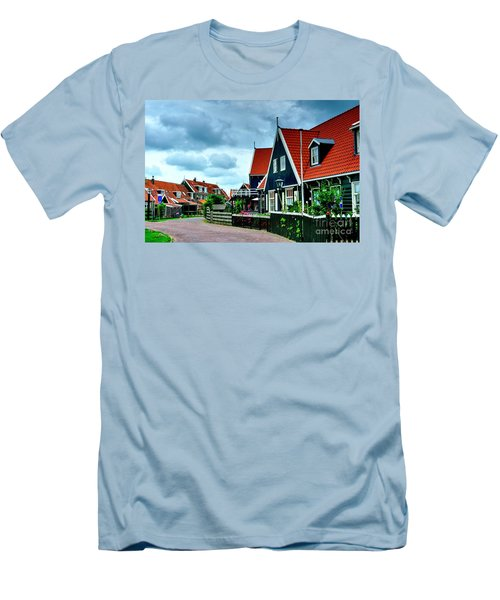Men's T-Shirt (Slim Fit) featuring the photograph Dutch Village by Joe  Ng