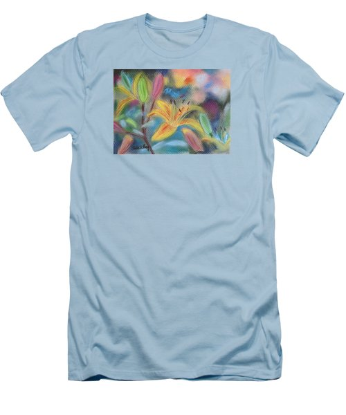 Early Arrival Lily Men's T-Shirt (Slim Fit) by Julie Brugh Riffey