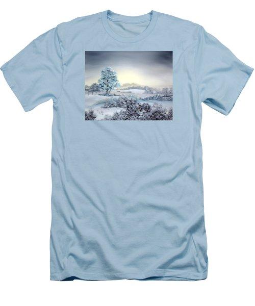 Early Morning Snows Men's T-Shirt (Slim Fit) by Jean Walker
