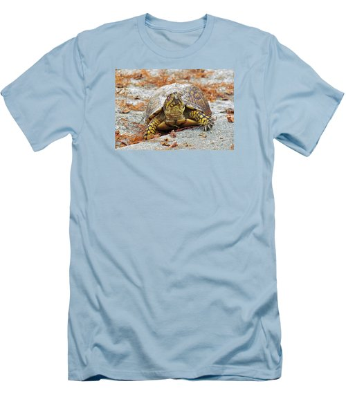 Men's T-Shirt (Slim Fit) featuring the photograph Eastern Box Turtle by Cynthia Guinn
