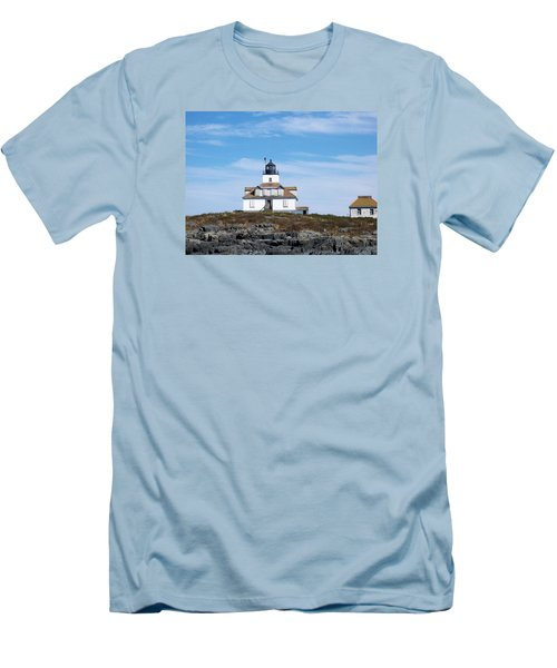 Egg Rock Lighthouse Men's T-Shirt (Slim Fit) by Catherine Gagne