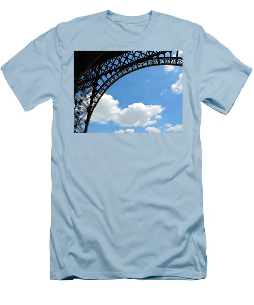 Eiffel Clouds Men's T-Shirt (Athletic Fit)