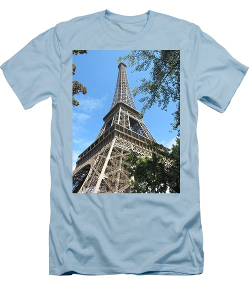 Men's T-Shirt (Slim Fit) featuring the photograph Eiffel Tower - 2 by Pema Hou