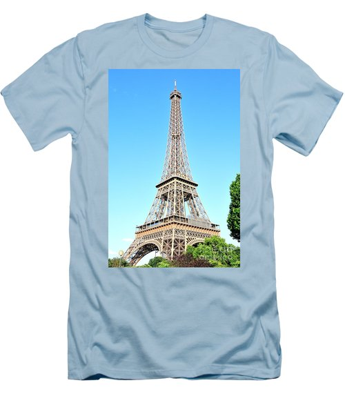 Men's T-Shirt (Slim Fit) featuring the photograph Eiffel Tower by Joe  Ng