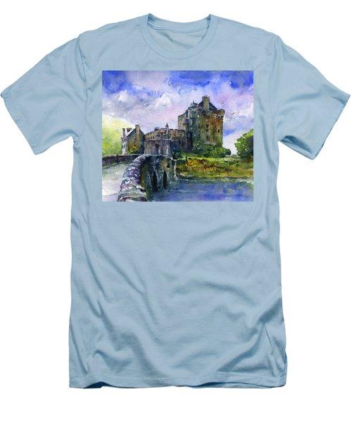Eilean Donan Castle Scotland Men's T-Shirt (Athletic Fit)