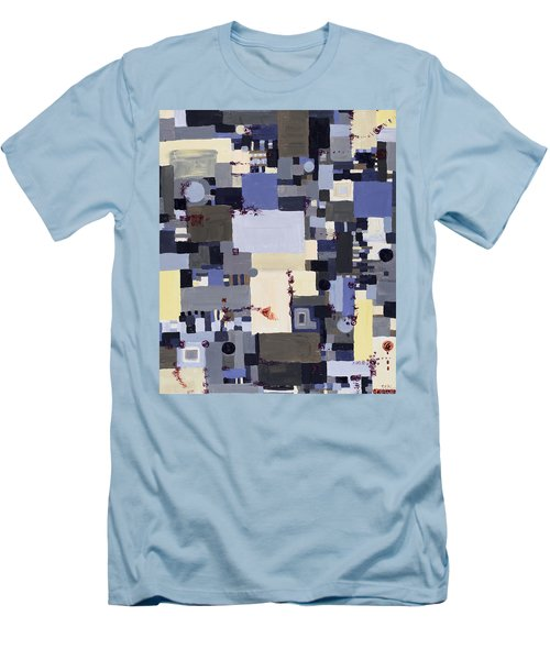 Elastic Dialog Men's T-Shirt (Slim Fit) by Regina Valluzzi