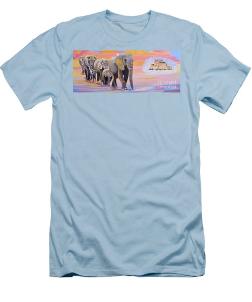 Elephant Fantasy Must Open Men's T-Shirt (Slim Fit) by Phyllis Kaltenbach