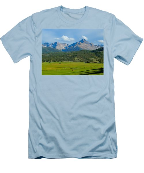Elk Below Mount Sneffels Men's T-Shirt (Slim Fit) by Dan Miller