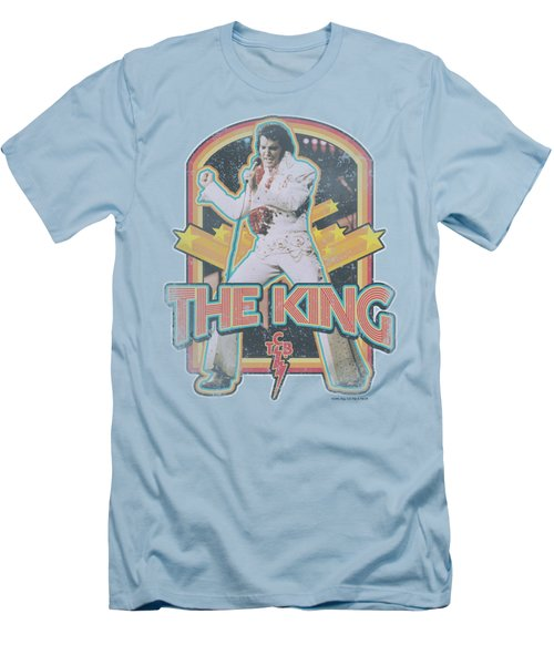 Elvis - Distressed King Men's T-Shirt (Athletic Fit)