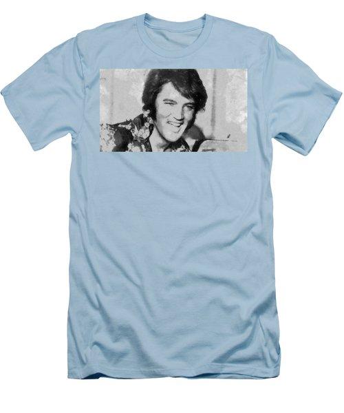 Elvis Presley Rock N Roll Star Men's T-Shirt (Athletic Fit)