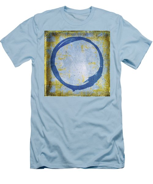Enso No. 109 Blue On Blue Men's T-Shirt (Athletic Fit)