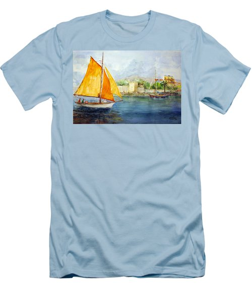 Entering The Port - Foca Izmir Men's T-Shirt (Athletic Fit)