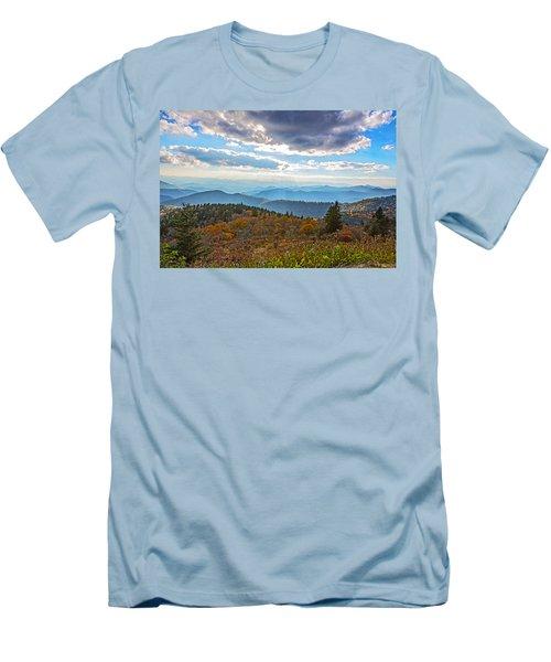 Evening On The Blue Ridge Parkway Men's T-Shirt (Slim Fit) by John Haldane