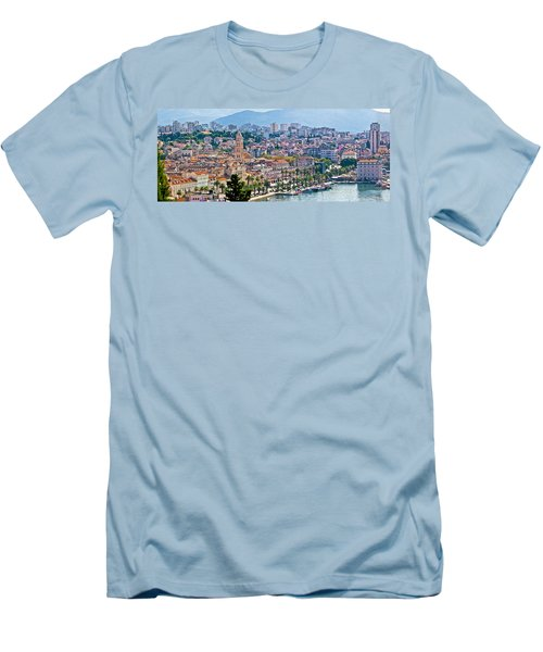 Fabulous Split Waterfront Aerial Panorama Men's T-Shirt (Athletic Fit)