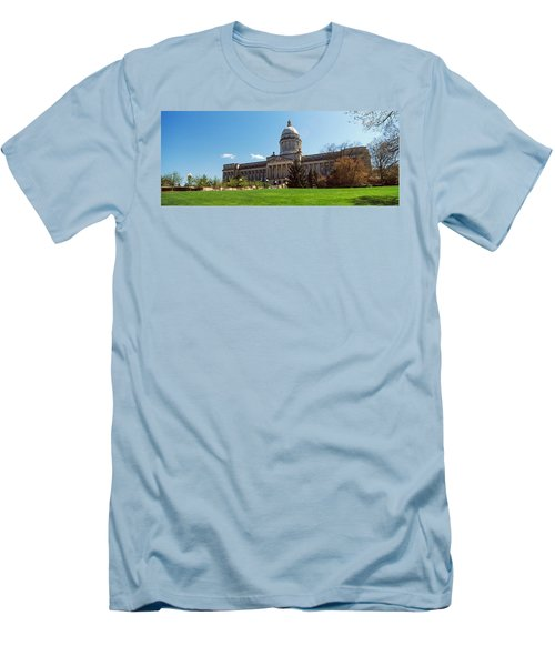 Facade Of State Capitol Building Men's T-Shirt (Slim Fit) by Panoramic Images