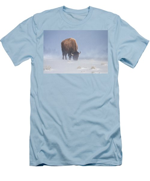 Men's T-Shirt (Slim Fit) featuring the photograph Faces The Blizzard by Jack Bell