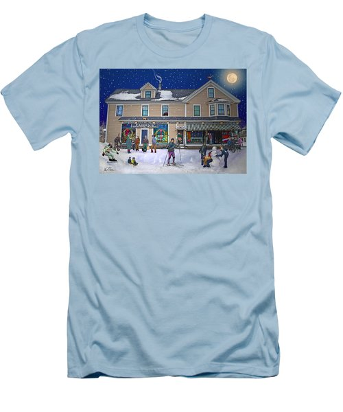 Faddens General Store In North Woodstock Nh Men's T-Shirt (Slim Fit) by Nancy Griswold