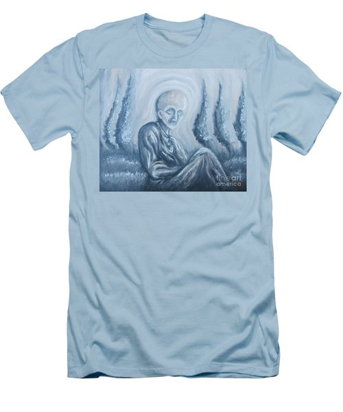 Men's T-Shirt (Slim Fit) featuring the painting Fade Away by Michael  TMAD Finney