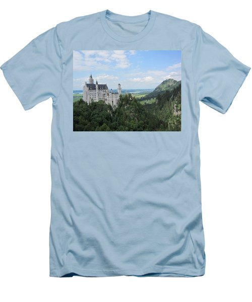 Men's T-Shirt (Slim Fit) featuring the photograph Fairytale Castle - 1 by Pema Hou