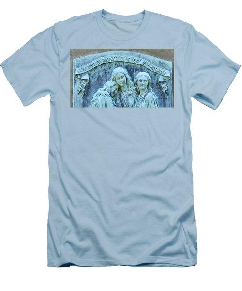 Faith Hope Charity Men's T-Shirt (Slim Fit) by Kathy Barney