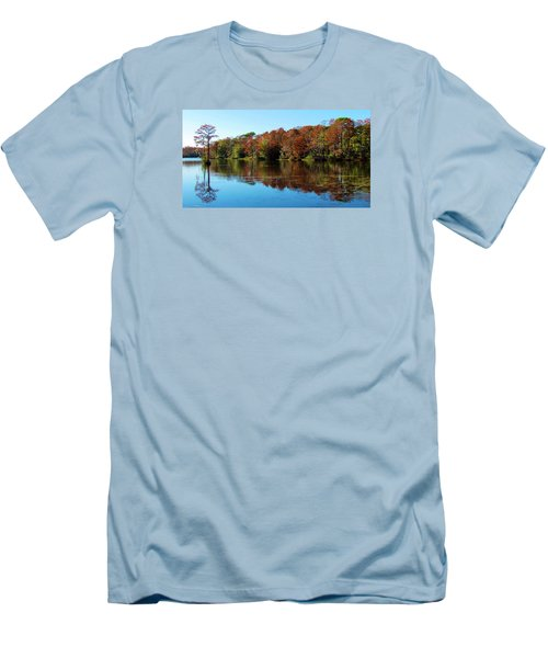 Fall In The Air Men's T-Shirt (Slim Fit) by Cynthia Guinn