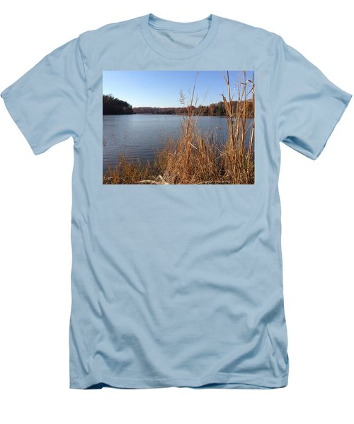 Men's T-Shirt (Slim Fit) featuring the photograph Fall On The Creek by Charles Kraus