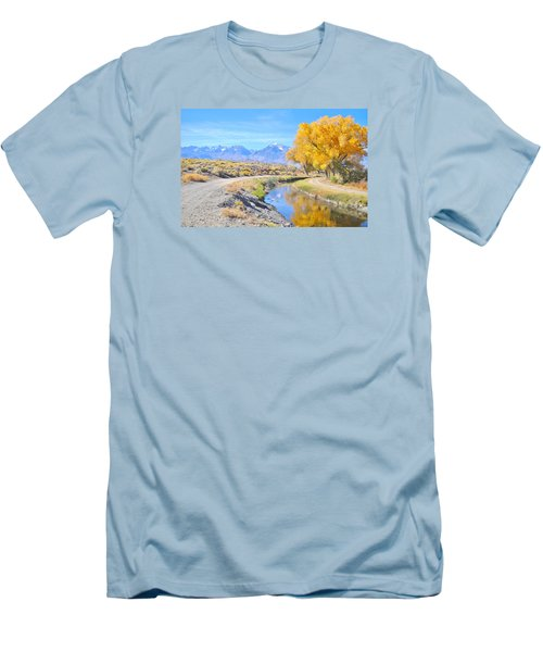 Men's T-Shirt (Slim Fit) featuring the photograph Fall Reflections by Marilyn Diaz