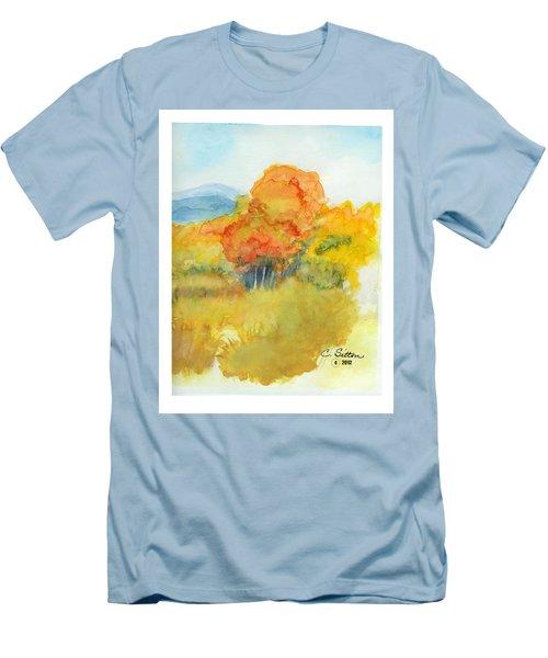 Fall Trees 2 Men's T-Shirt (Slim Fit) by C Sitton