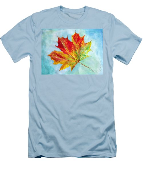 Falling Leaf - Painting Men's T-Shirt (Athletic Fit)