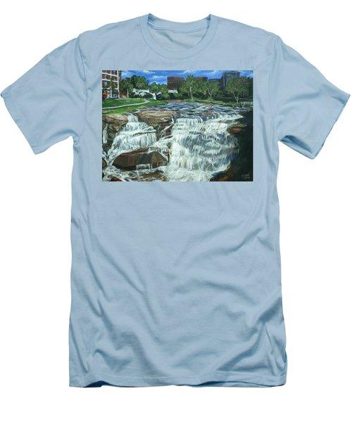 Falls River Park Men's T-Shirt (Slim Fit) by Bryan Bustard