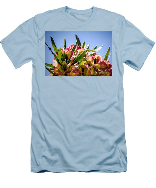 Fanned Flowers Men's T-Shirt (Athletic Fit)