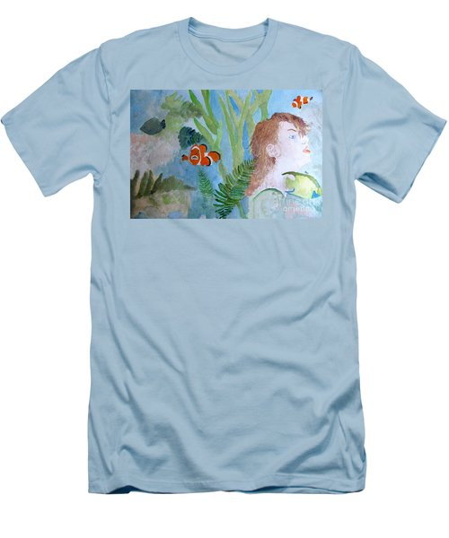 Men's T-Shirt (Slim Fit) featuring the painting Fantasia 1 by Sandy McIntire