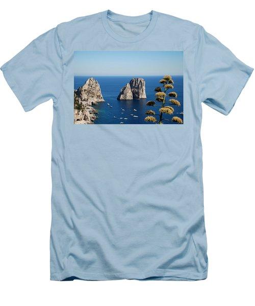 Faraglioni In Capri Men's T-Shirt (Athletic Fit)
