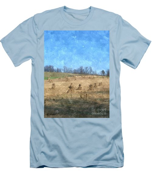 Men's T-Shirt (Slim Fit) featuring the painting Farm Days 2 by Sara  Raber