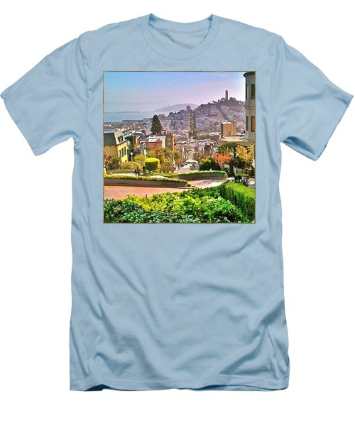 Favorite Places Lombard Street San Francisco California Men's T-Shirt (Slim Fit)