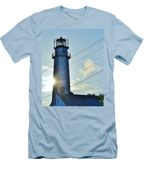 Fenwick Island Lighthouse - Delaware Men's T-Shirt (Athletic Fit)
